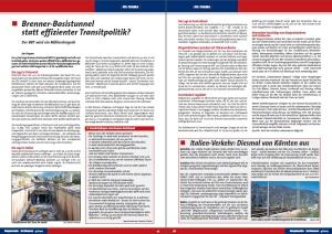 Artikel in Regionale Schienen zum BBT